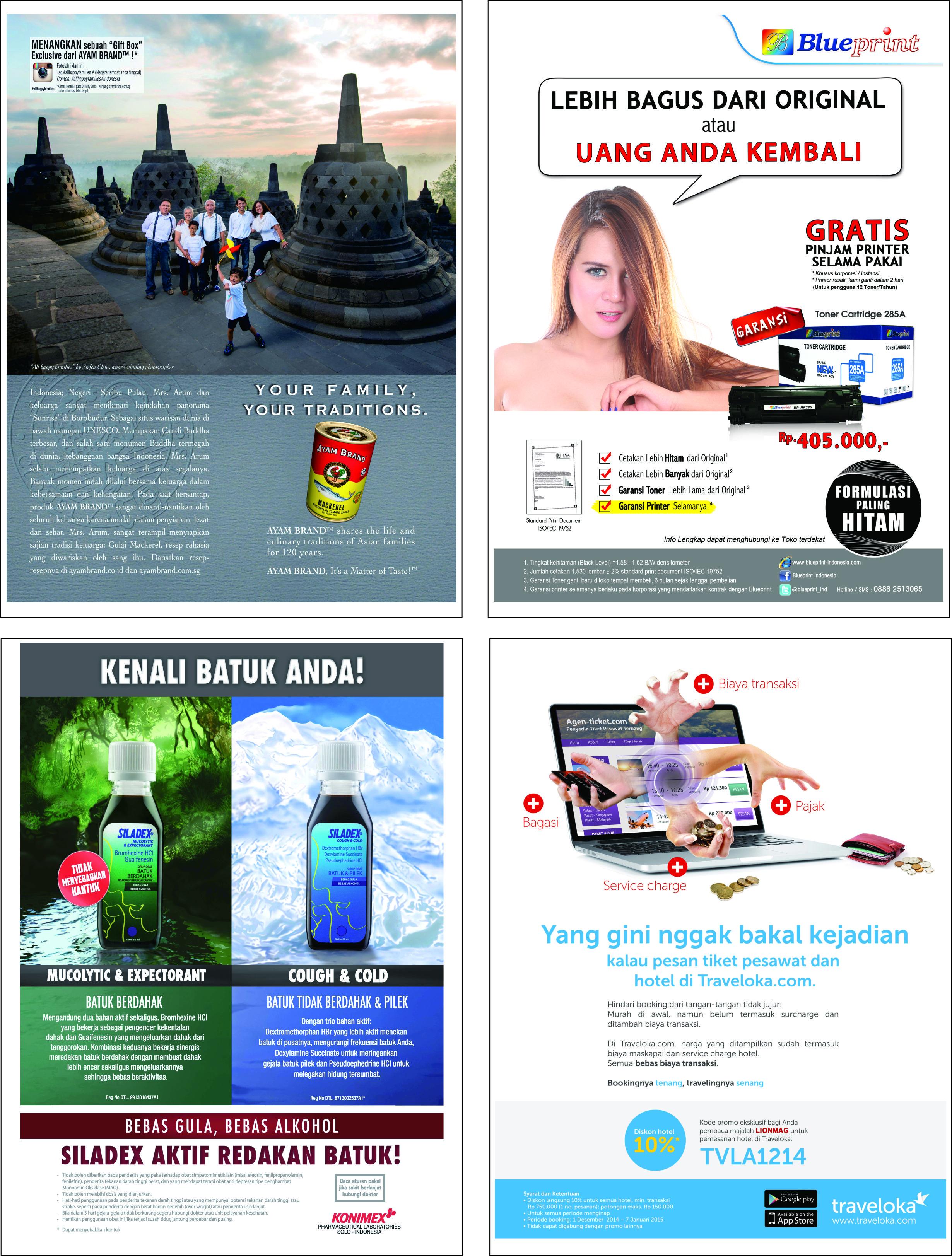 Contoh klien yang pasang iklan di majalah