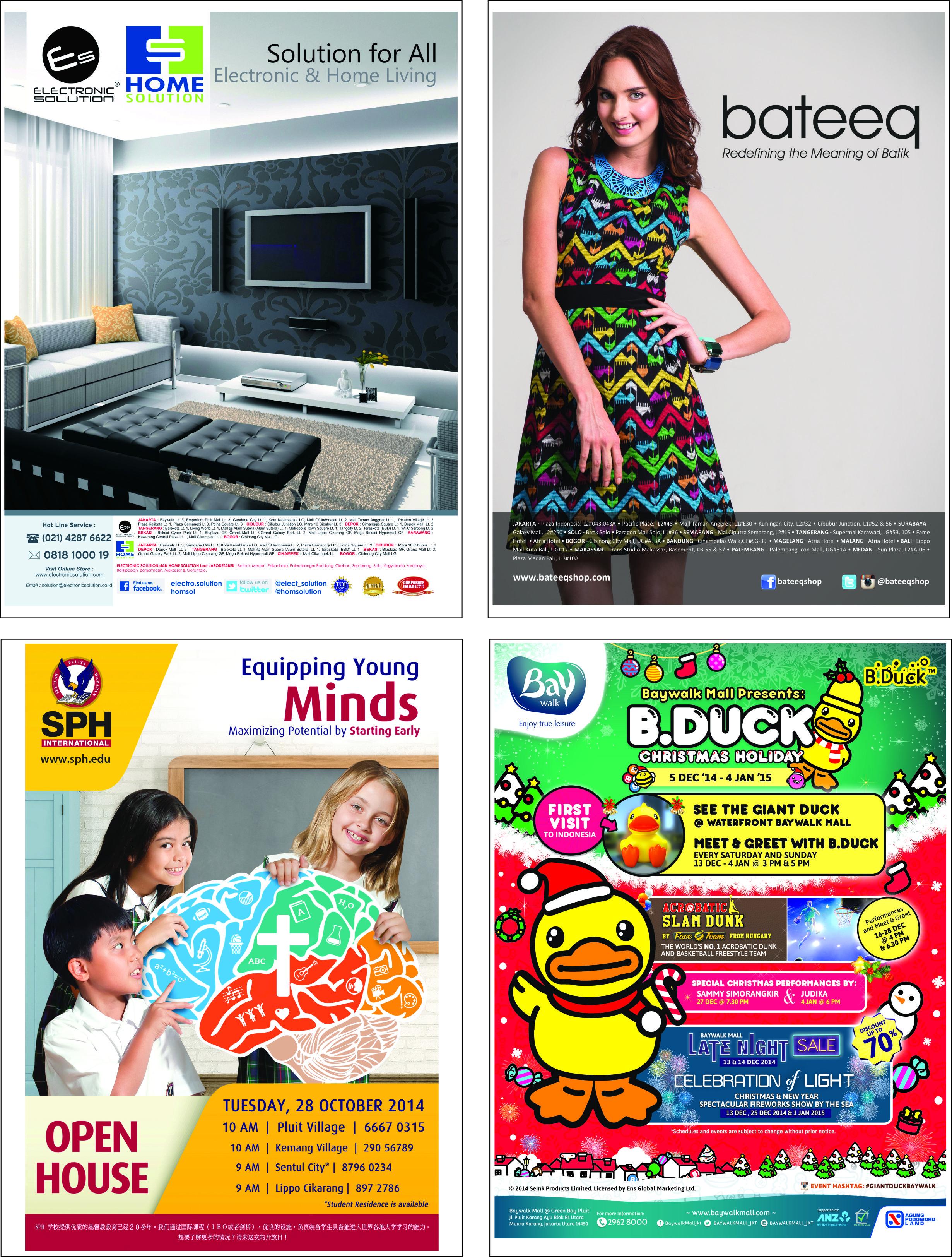 Contoh pemasangan iklan di koran & majalah