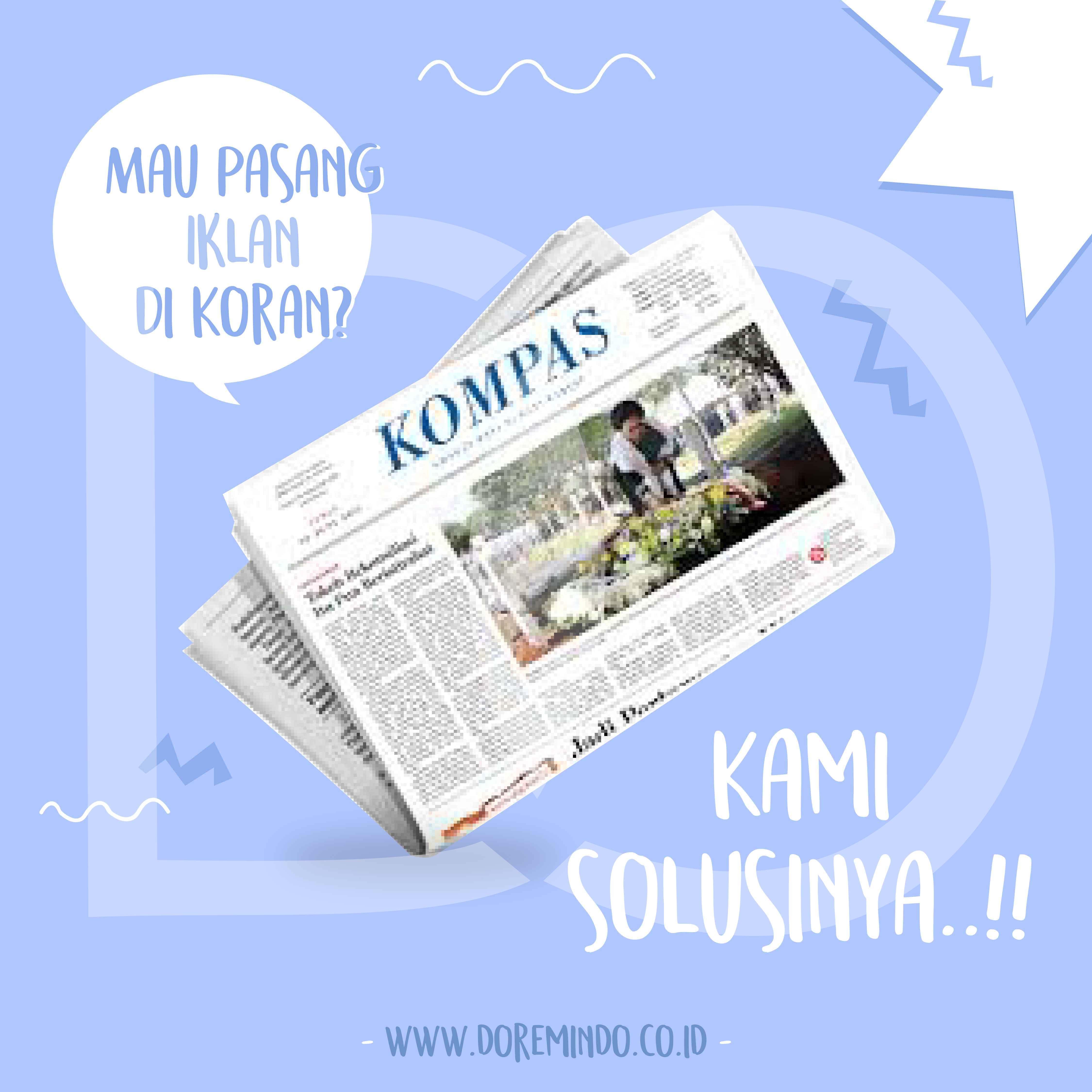 Pasang Iklan di Koran Kompas