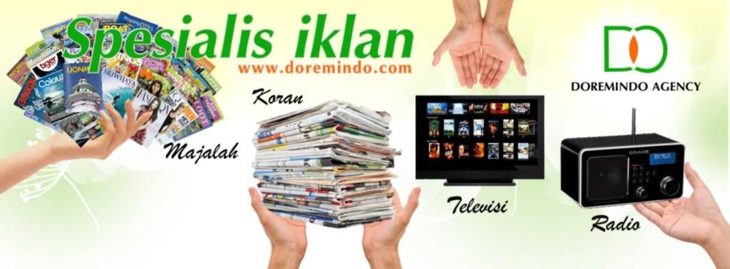 Pasang Iklan Koran, Majalah, Radio, TV