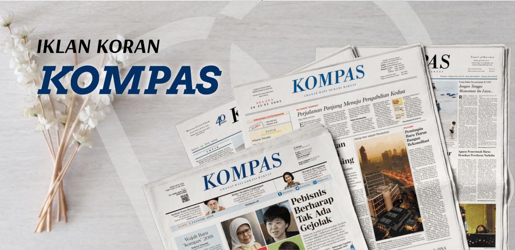 Pasang Iklan Koran Kompas