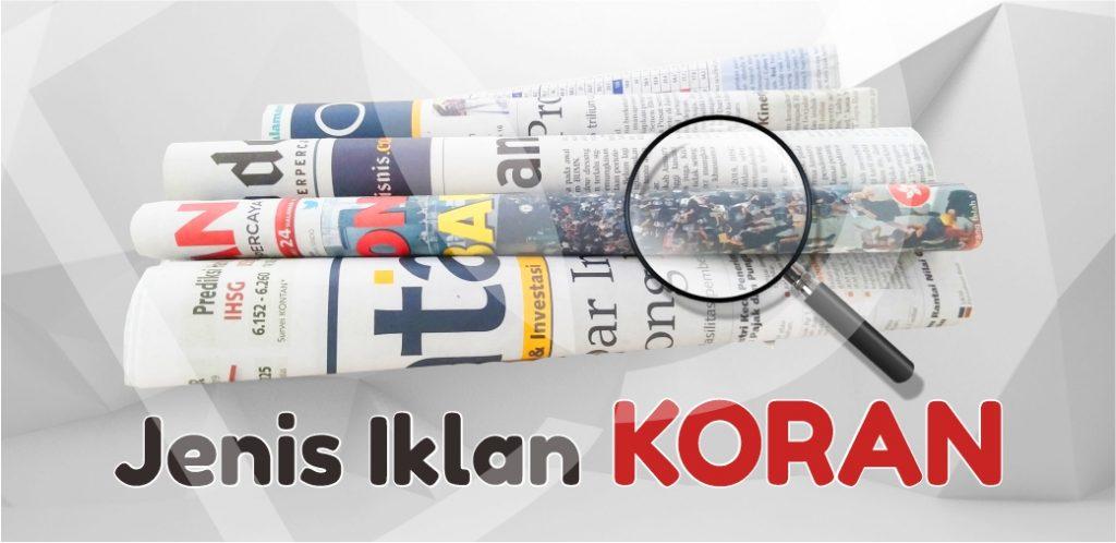 Jenis Iklan Koran