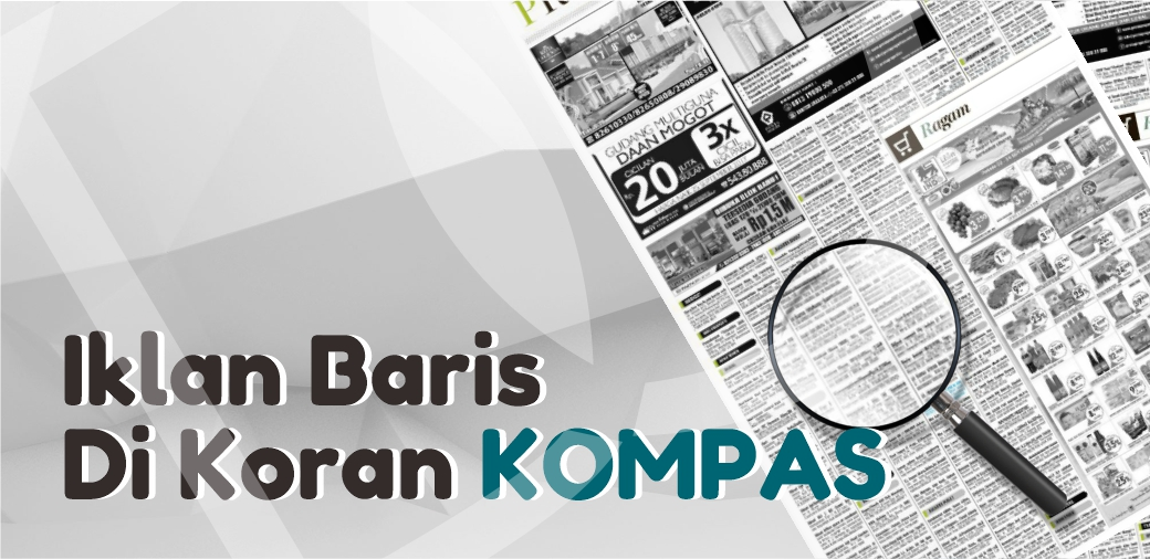 Iklan baris di Koran Kompas
