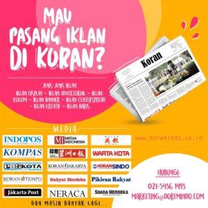 Mau Pasang Iklan di Koran