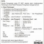 Contoh Iklan Pengadaan MRT Jakarta