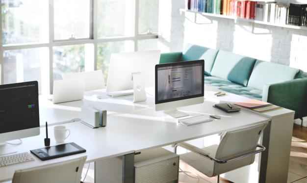 Ilustrasi meja kantor